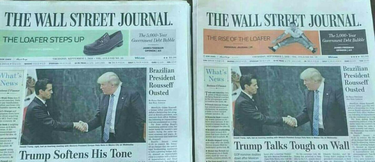 Image result for same wall street journal story different headlines